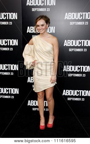 Madeline Carroll at the Los Angeles premiere of 'Abduction' held at the Grauman's Chinese Theatre in Hollywood, USA on September 15, 2011.