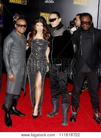 The Black Eyed Peas at the 2009 American Music Awards at Nokia Theatre L.A. Live in Los Angeles, USA on November 22, 2009.