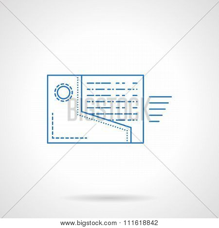 Web reminder vector icon flat blue line style