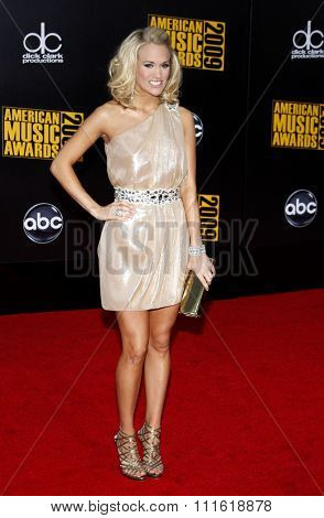 Carrie Underwood at the 2009 American Music Awards at Nokia Theatre L.A. Live in Los Angeles, USA on November 22, 2009.