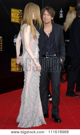Nicole Kidman and Keith Urban at the 2009 American Music Awards at Nokia Theatre L.A. Live in Los Angeles, USA on November 22, 2009.