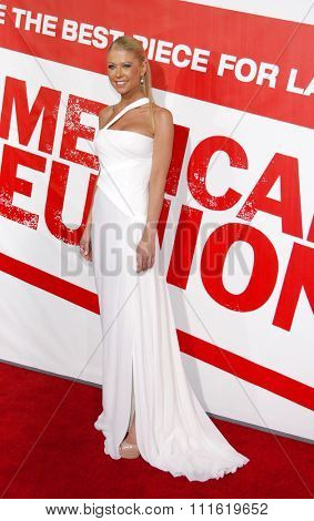 Tara Reid at the Los Angeles premiere of 'American Reunion' held at the Grauman's Chinese Theatre in Hollywood, USA on March 19, 2012.