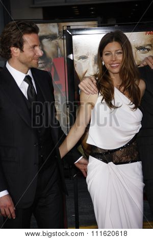 Bradley Cooper and Jessica Biel at the World premiere of 'The A-Team' held at the Grauman's Chinese Theater in Hollywood, USA on June 3, 2010.