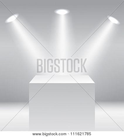 Pedestal with light source