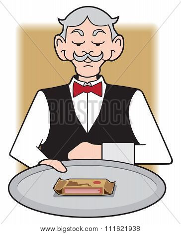 Waiter with Protein Bar