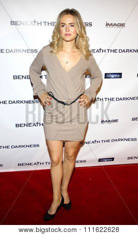 Amelia Jackson-Gray at the Los Angeles premiere of 'Beneath The Darkness' held at the Egyptian Theatre in Hollywood, USA on January 4, 2012.