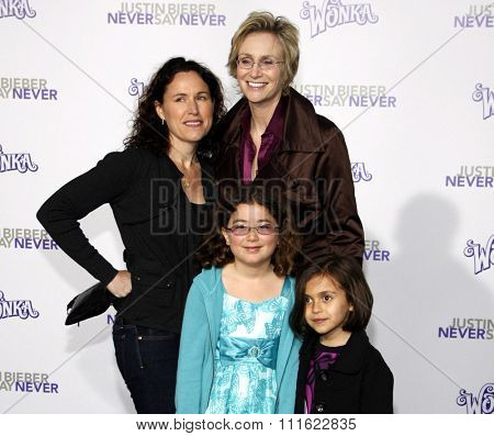 Lara Embry and Jane Lynch at the Los Angeles Premiere of