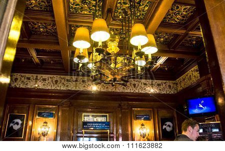 Interior Of The Lobby Of Her Majesty Theatre,   London, Uk.
