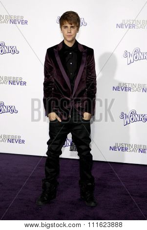 February 8, 2011. Justin Bieber at the Los Angeles premiere of