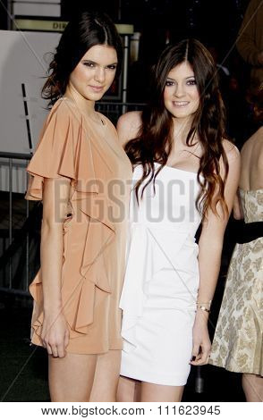 February 8, 2011. Kendall Jenner and Kylie Jenner at the Los Angeles premiere of