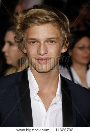 Cody Simpson at the Los Angeles premiere of 'The Twilight Saga: Breaking Dawn Part 1' held at the Nokia Theatre L.A. Live in Los Angeles, USA on November 14, 2011.