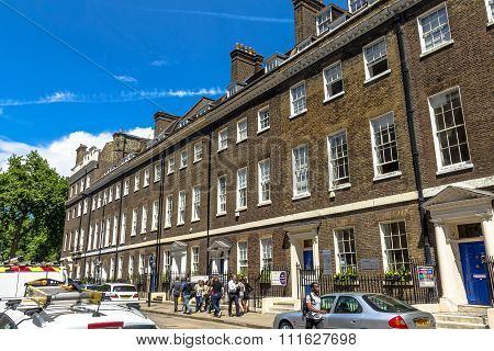 Southampton Place In Borough Of Camden At Central London, United Kingdom