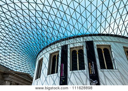The British Museum Inside Interior. London, England