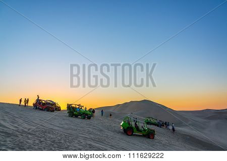 Dune Buggies In Huacachina, Peru