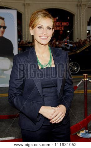 Julia Roberts at the Los Angeles premiere of 'Larry Crowne' held at the Grauman's Chinese Theater in Hollywood, USA on June 27, 2011.