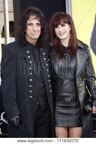 Alice Cooper and Sheryl Goddard at the Los Angeles premiere of 'Dark Shadows' held at the Grauman's Chinese Theater in Hollywood, USA on May 7, 2012.
