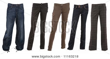 Collection Of Various Female Trousers