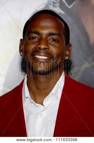 HOLLYWOOD, CALIFORNIA - February 1, 2010. Keith Robinson at the World premiere of