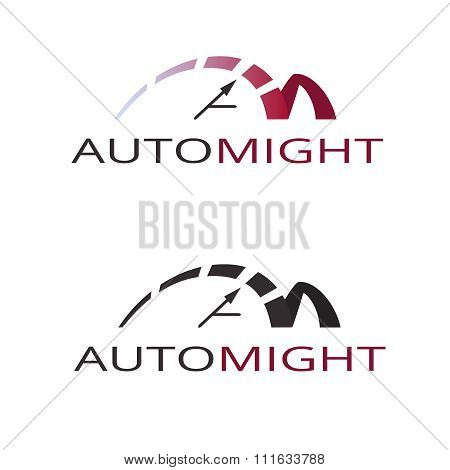speedometer. abstract symbol of speed. template logo design. vector. eps10