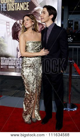 Drew Barrymore and Justin Long at the Los Angeles Premiere of
