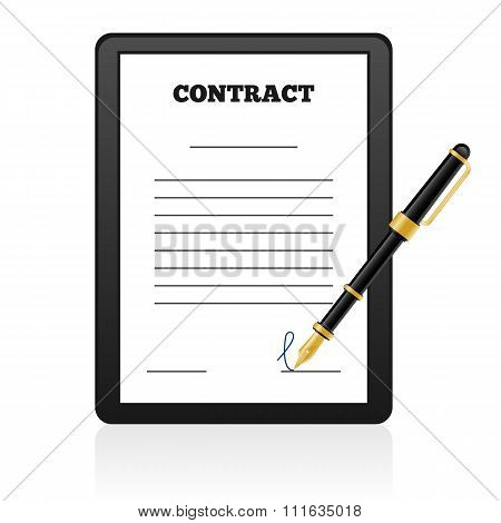 Signing Contract isolated