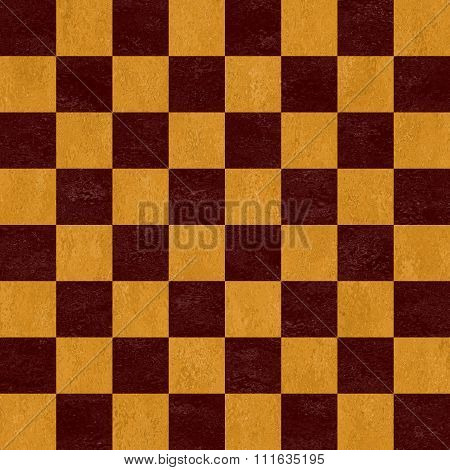 Woody Brown And Beige Chessboard Seamless Pattern Texture