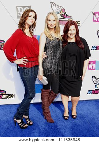 Wendy Wilson, Carnie Wilson and Chynna Phillips of Wilson Phillips at the 2011 VH1 Do Something Awards held at the Palladium Hollywood in Los Angeles, California, United States on August 14, 2011.