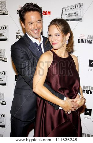 LOS ANGELES, USA - Robert Downey Jr. and Susan Downey at the 25th American Cinematheque Award Honoring Robert Downey Jr. held at the Beverly Hilton hotel in Beverly Hills, USA on October 14, 2011.