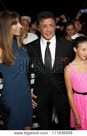 Sylvester Stallone at the Los Angeles premiere of