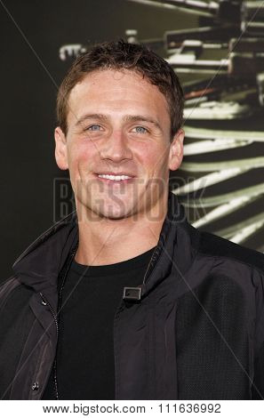 LOS ANGELES, CALIFORNIA - August 15, 2012. Ryan Lochte at the Los Angeles premiere of 'The Expendables 2' held at the Grauman's Chinese Theatre, Los Angeles.
