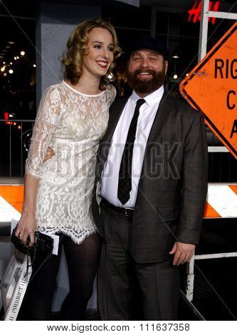 HOLLYWOOD, CALIFORNIA - October 28, 2010. Zach Galifianakis at the Los Angeles premiere of