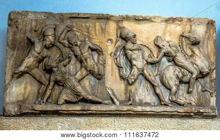 Panel Of Battle Of Greeks And Amazons