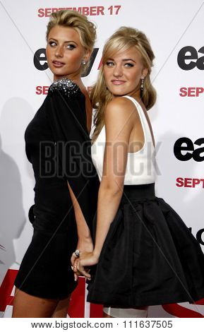 HOLLYWOOD, CALIFORNIA - September 13, 2010. Aly and AJ Michalka at the Los Angeles premiere of