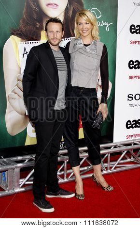 Jenna Elfman and Bodhi at the Los Angeles Premiere of