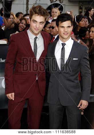 Robert Pattinson and Taylor Lautner at