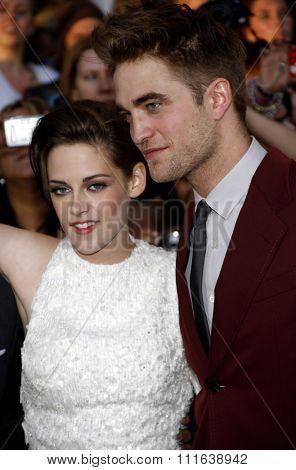 Robert Pattinson and Kristen Stewart at