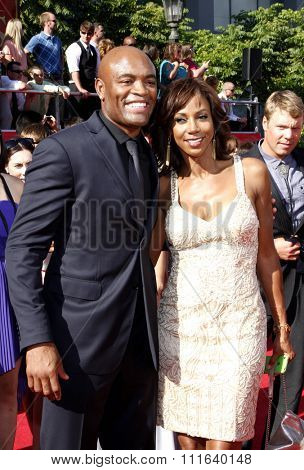 Anderson Silva at the 2012 ESPY Awards held at the Nokia Theatre L.A. Live in Los Angeles, USA on July 11, 2012.