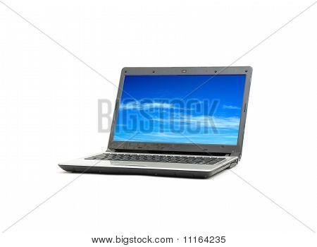 blue sky in laptop