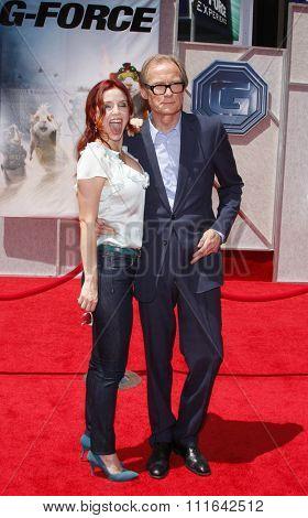 HOLLYWOOD, CALIFORNIA - July 19, 2009. Kelli Garner and Bill Nighy at the Disney World Premiere of