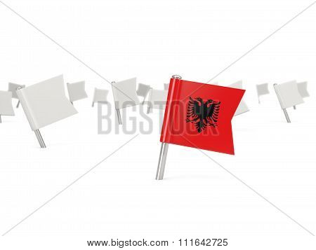Square Pin With Flag Of Albania