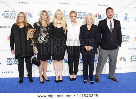LOS ANGELES, CALIFORNIA - December 7, 2012. Glenn Close and Annie Starke at the 2nd Annual American Giving Awards held at the Pasadena Civic Auditorium in Los Angeles.