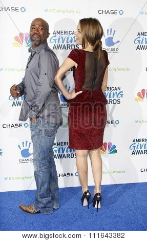 Darius Rucker and Maria Menounos at the 2nd Annual American Giving Awards held at the Pasadena Civic Auditorium in Los Angeles, California, United States on December 7, 2012.