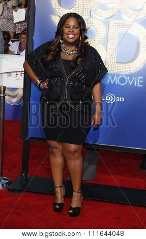 WESTWOOD, CALIFORNIA - August 6, 2011. Amber Riley at the Los Angeles premiere of