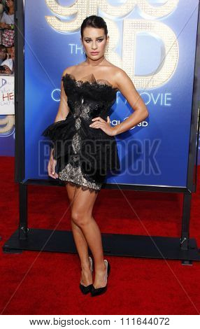 WESTWOOD, CALIFORNIA - August 6, 2011. Lea Michele at the Los Angeles premiere of