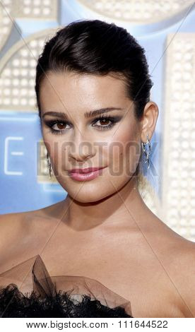 Lea Michele at the Los Angeles Premiere of