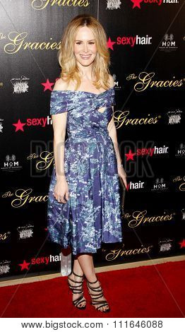 Sarah Paulson at the 37th Annual Gracie Awards Gala held at the Beverly Hilton Hotel in Los Angeles, USA on May 23, 2012.