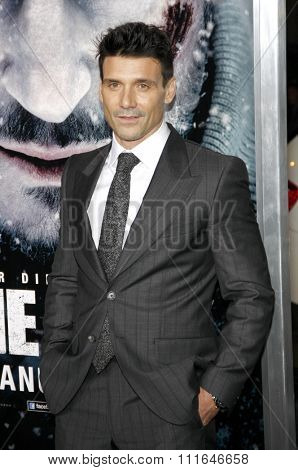 LOS ANGELES, CALIFORNIA - January 11, 2012. Frank Grillo at the Los Angeles premiere of