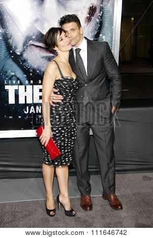 LOS ANGELES, CALIFORNIA - January 11, 2012. Wendy Moniz and Frank Grillo at the Los Angeles premiere of
