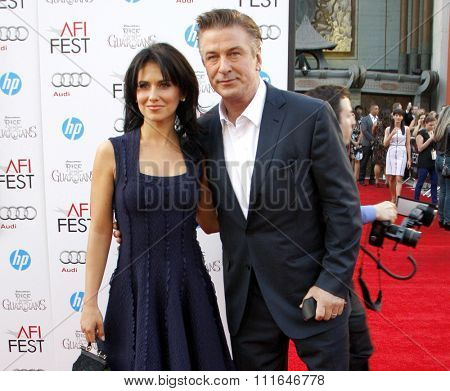 Alec Baldwin and Hilaria Thomas at the 2012 AFI FEST Gala Screening of