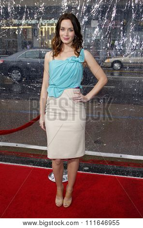 HOLLYWOOD, CALIFORNIA - December 18, 2010. Emily Blunt at the Los Angeles premiere of